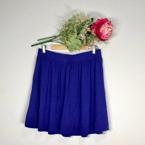 Loft | Blue Pull On Casual Circle Skirt SZ M